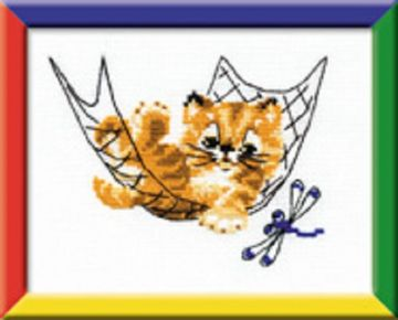 Riolis Cross Stitch Kit.QUIET TIME.